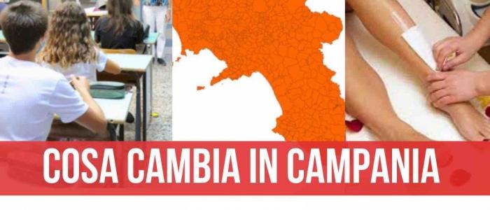 Da lunedì 19 aprile la Campania torna arancione