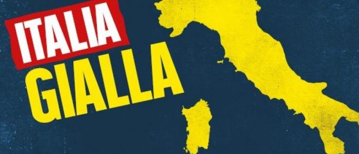 Da domani tutta (o quasi) l'Italia sarà gialla