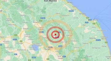 Tripla scossa di terremoto a Gubbio