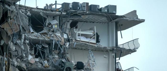 Crollo edificio a Miami, già nel 2018 rilevati danni strutturali