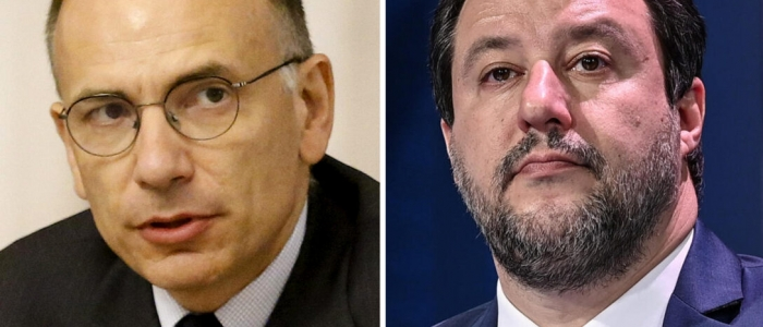 Letta vs Salvini, parole dure