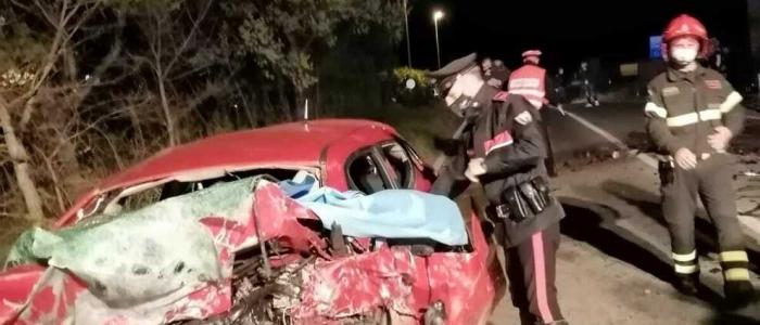 Grave incidente d'auto a Frosinone, quattro le vittime