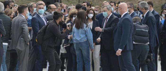 """Parco della Memoria a L'Aquila, Draghi: """"Il governo deve assumersi il dovere dell'azione"""""""